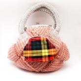 あじろ編み がまぐちバッグ