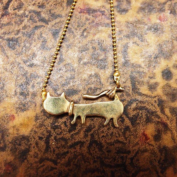 ウケンムケン 動物シルエット 私はネコのネックレス