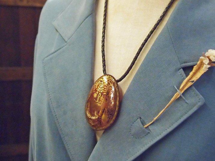 "Caspol Glass カスポルグラス ""旅人の墓標""  「サボテンの花を見るために」ペンダント"