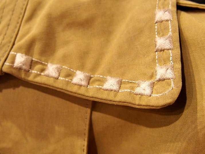TaaKK ターク Embroidery Studs Trench coat
