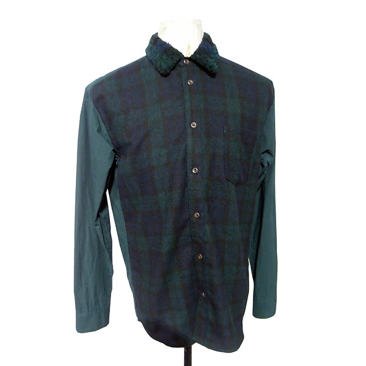 Doublet ダブレット CHECK COMBINATION SHIRT