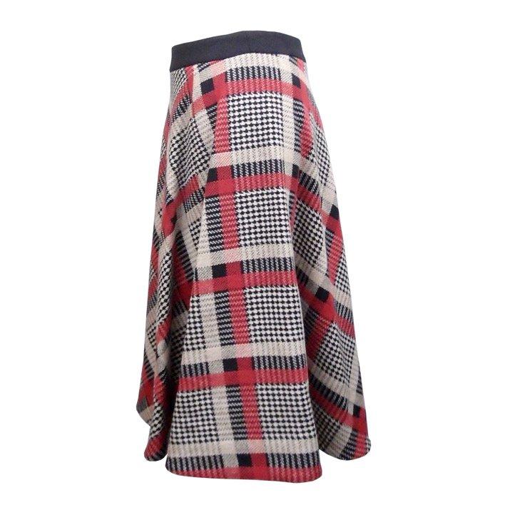 Yasutoshi Ezumi チェックサーキュラースカート