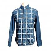 【40%off】TaaKK ターク Embroidery check Shirt 刺繍チェックシャツ ULTRAMARINE