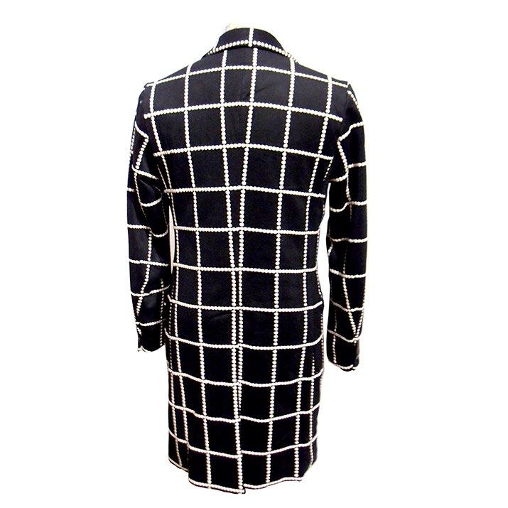 TaaKK ターク  Embroidery check Long coat 刺繍チェックコート