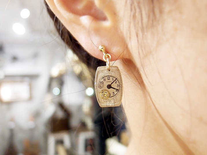 Tomoko Tokuda Steampunk pierce mini earring B no.5495 スチームパンク ピアス