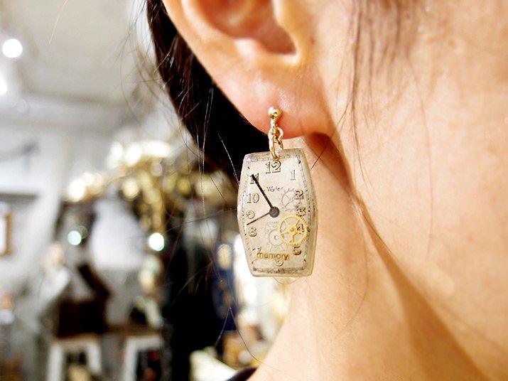 Tomoko Tokuda Steampunk pierce mini earring B no.5495 スチームパンク ピアス