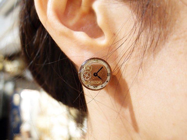 Tomoko Tokuda Steampunk mini earring E no.5501 スチームパンク ピアス