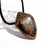Caspol Glass 定榮政隆 Masataka Joei 盾型の紋章「王冠とグリフォン」  ペンダント