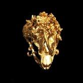 memini メミニー セレベスバビルサ リング 真鍮 K24コーティング 19号 (1点もの)
