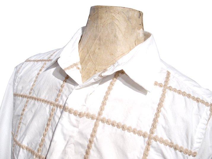 TaaKK ターク Embroidery check Shirt 刺繍チェックシャツ