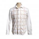 TaaKK ターク Embroidery check Shirt 刺繍チェックシャツ WHITE