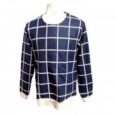 【40%off】TaaKK ターク Embroidery check Pullovers 刺繍チェックプルオーバー NAVY
