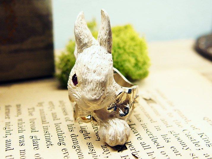DECOvienya デコヴィーニャ 大きなウサギとクローバーリング
