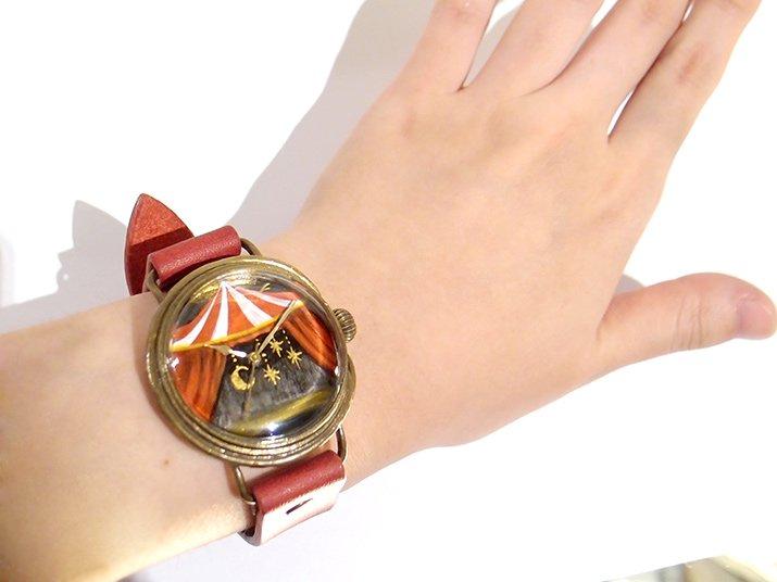 GIFT展 手作り腕時計 佐久間友香 「 幕が開く」