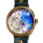 GIFT展 手作り腕時計 いしかわゆか 「 Under Your Sea 3 」 LL-size 37mm