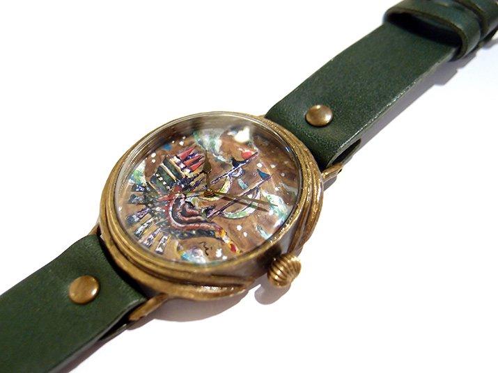 GIFT展 手作り腕時計 三鼓梨菜 「 stroll ship 」