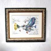GIFT展 絵画作品 三鼓梨菜 「 鳥人とトランペット 」