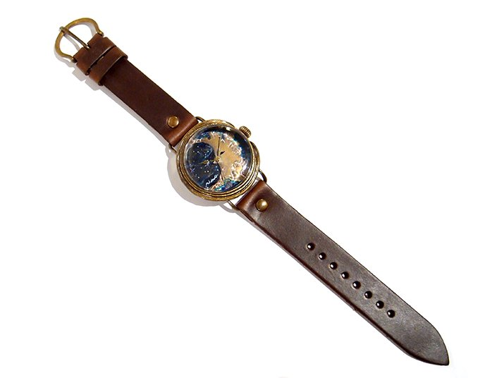 GIFT展 手作り腕時計 三鼓梨菜 「 壊れかけの月 」