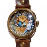 GIFT展 手作り腕時計 三鼓梨菜 「 NINE 」 LL-size 37mm