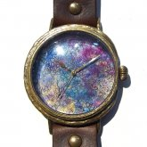 GIFT展 手作り腕時計 いしかわゆか 「 Under Your Sea 4 」 LL-size 37mm