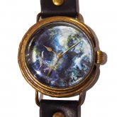 GIFT展 手作り腕時計 三鼓梨菜 「 EARTH �」 L-size 33mm