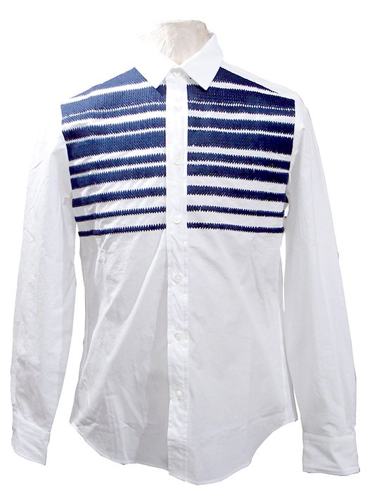 TaaKK ターク Knit Embroidery Shirts ニット刺繍シャツ