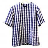 TaaKK ターク  Bonding gingham ボンディング ギンガムチェック プルオーバーシャツ BLUE