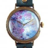 アート文字盤 手作り腕時計いしかわゆか 「Jewels in your sea」