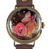 クロノキャンバス アート腕時計 「ハコイリムスメ 泡」Chiaki Akada×A STORY TOKYO L 33mm