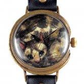 クロノキャンバス アート腕時計「うずくまる猫(黒)」佐久間 友香 Yuka Sakuma×A STORY TOKYO LL 37mm