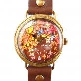 クロノキャンバス アート腕時計「はなふる」Chiaki Akada×A STORY TOKYO M 28mm