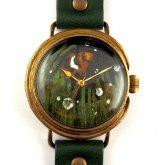 クロノキャンバス アート腕時計「熱帯魚 クマノミ」佐久間 友香 Yuka Sakuma×A STORY TOKYO L-33mm