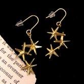 ウケンムケン 「もう少し星を見るピアス」 真鍮(両耳)