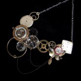 Tomoko Tokuda Steampunk necklace スチームパンクネックレス0191 no.6189