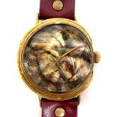 クロノキャンバス アート腕時計「うずくまる猫(白)」佐久間 友香 Yuka Sakuma×A STORY TOKYO LL 37mm