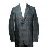 【50%off】TaaKK ターク Overlay stripe Jacket オーバーレイストライプ ジャケット GREEN