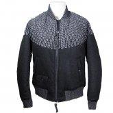 【30%off】TaaKK ターク Over knit embroidery blouson オーバーニット エンブロイダリー ブルゾン GRAY