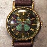 オオルリアゲハの腕時計 エメラルド Classic Wristwatch blue butterfly EM