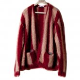【30%OFF】REVERBERATE リバーバレイト 15-AW-Joker Cardigan Burgundy