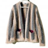 【30%OFF】REVERBERATE リバーバレイト 15-AW-Joker Cardigan Gray