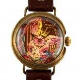 クロノキャンバス アート腕時計「AM3:00のつなぎ目」Chiaki Akada×A STORY TOKYO L 33mm