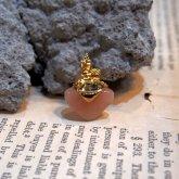 Fillyjonk フィリフヨンカ 小さなお家と天然石のイヤリング ピーチアベンチュリ (片耳)