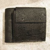 【ラスト1点】カガリユウスケ 二つ折り財布 ブラック black  革小物 革財布