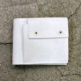 【ラスト一点】カガリユウスケ 二つ折り財布 ホワイト 白 white 革財布 革小物