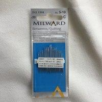 ミルワード キルティング針 No.5-10 20本入り(milward-5-10-2)