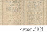 Broderie-パネル(1P 約 61cm)-13889-16L(リネン生地)(A-05)