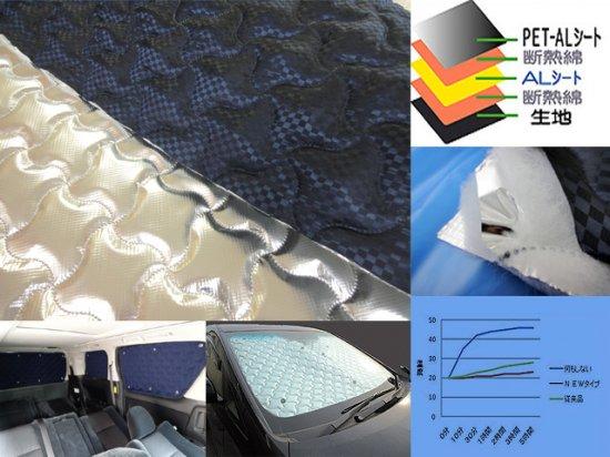 限定D5PS-C NVB【5m ネイビーブラック5層特殊加工 断熱シェード用加工生地 】販売 片面反射 遮光断熱 …