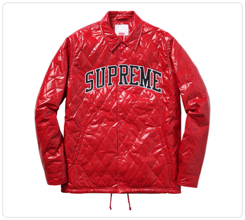 2014 F/W Quilted Coaches Jacket��Red...
