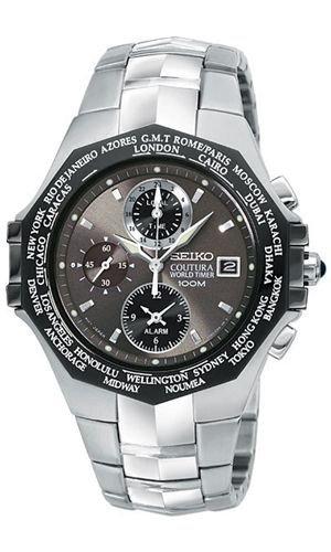 Seiko Men's Coutura World Timer Watch