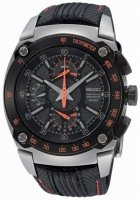 Seiko Sportura Dual Flyback Chronograph Leather Mens Watch